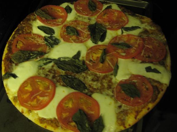 Costco margherita pizza!